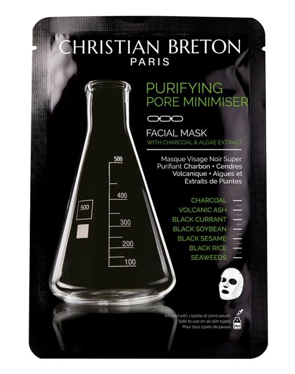 Чёрная маска для глубокого очищения Christian Breton, 20мл х 3шт фото