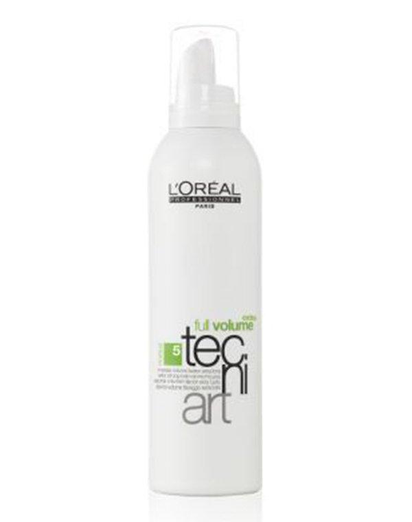 Мусс для объема нормальных и непослушных волос 5 Full Volume Extra LorealМусс для волос<br>Мусс гарантирует сверхсильную фиксацию и головокружительный объем. Он подходит для непослушных и нормальных локонов.<br><br>Бренды: Loreal Professional<br>Вид товара: Спрей, мусс<br>Область ухода: Волосы<br>Назначение: Стайлинг, Для объема<br>Тип кожи, волос: Осветленные, мелированные, Окрашенные, Сухие, поврежденные, Тонкие<br>Косметическая линия: Линия Tecni Art для укладки волос