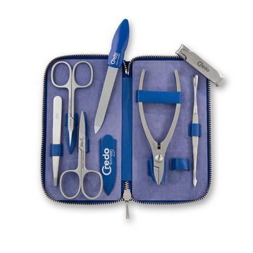 Инструмент для маникюра Solingen CREDO Набор Credo для маникюра и педикюра из 7 предметов Синий электро