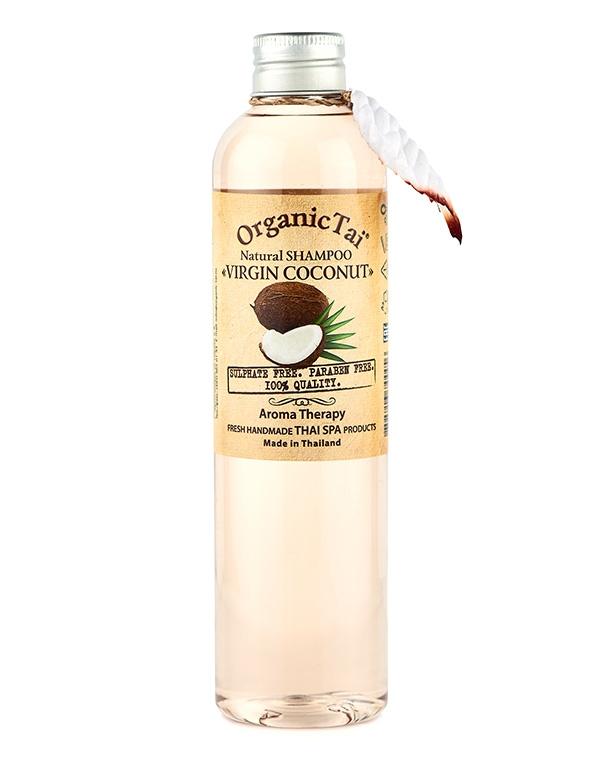 купить Шампунь для волос натуральный «Вирджин кокос» Organic Tai, 260 мл по цене 849 рублей