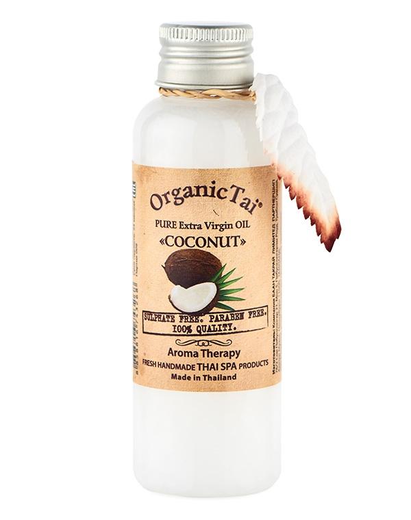 Масло Кокоса чистое базовое холодного отжима Organic Tai, 120/260 мл масло кокоса 120 мл organic tai 8 марта женщинам