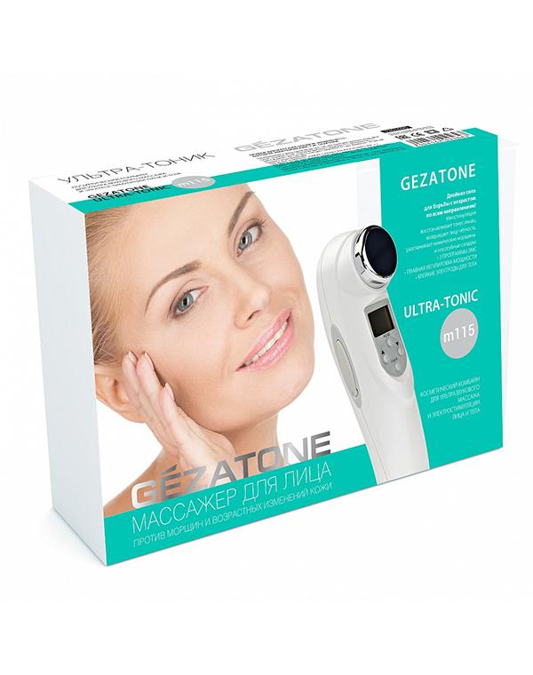 Массажер, аппарат GEZATONE Массажер для лица, шеи и тела Ультразвук + Миостимуляция Gezatone m115