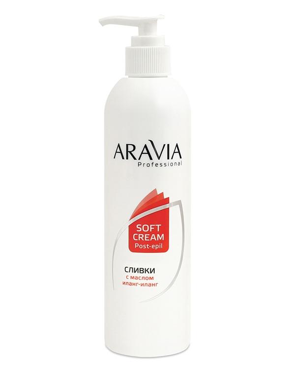 Сливки для восстановления рН кожи с маслом иланг-иланг (флакон с дозатором) ARAVIA Professional, 150 и 300 мл aravia сливки для восстановления рн кожи с маслом иланг иланг 150 мл