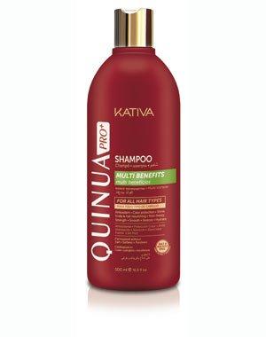 Ревитализирующий шампунь QUINUA PRO Kativa, 500 млУход за волосами<br>Профессиональный ревитализирующий шампунь способствует восстановлению структуры волоса, дарит волосам блеск и упругость. Особенно рекомендовано использование для поврежденных, ослабленных и лишенных блеска волос.<br>