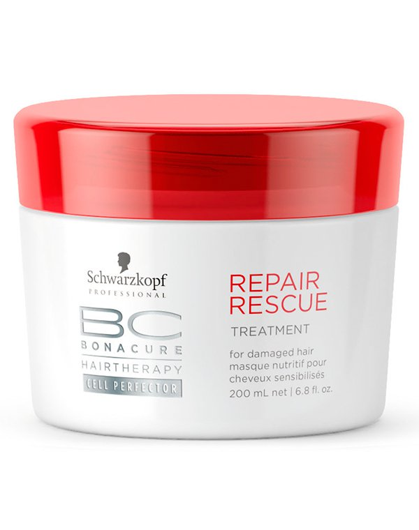 Маска для волос Schwarzkopf ProfessionalМаски для окрашеных волос<br>Маска мгновенно оживит и восстановит истонченные и нормальные волосы. Она является новинкой на рынке бьюти-товаров и способствует полной реконструкции прядей, если они подвергаются большим нагрузкам и частым стрессам.<br><br>Бренды: Schwarzkopf Professional<br>Вид товара: Маска для волос<br>Область ухода: Волосы<br>Назначение: Восстановление волос, Восстановление и защита<br>Тип кожи, волос: Осветленные, мелированные, Окрашенные, Вьющиеся, Жирные, Нормальные, Тонкие<br>Косметическая линия: Линия Bonacure Repair Rescue восстановление для волос