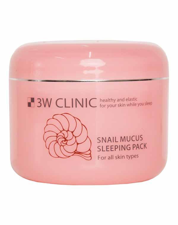 Маска для лица ночная Улиточный Муцин Snail Mucus Sleeping Pack, 3W Clinic, 100 мл маска д лица leaders clinic derma soul увлажняющая 25мл