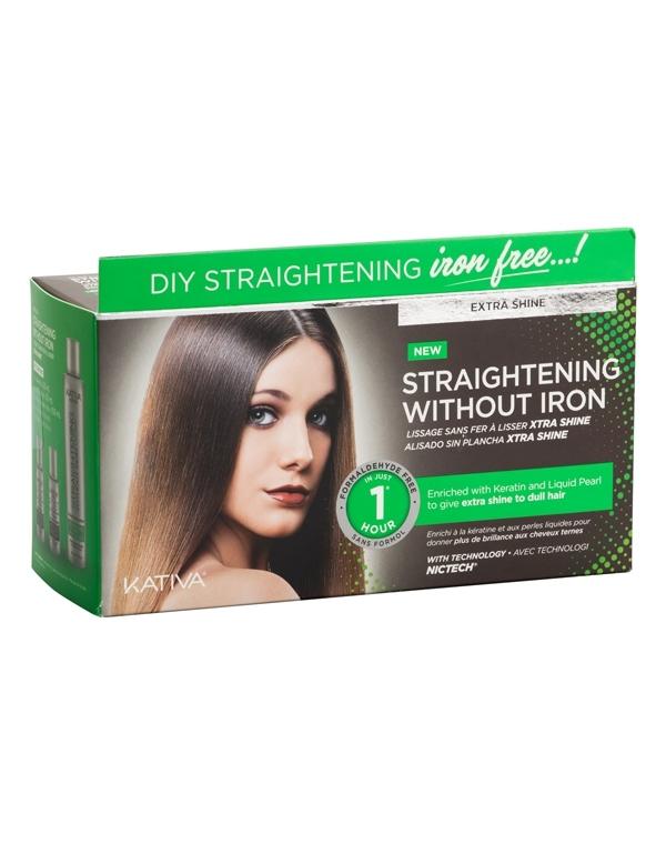 Набор для выпрямления волос «Экстра-блеск» для тусклых волос с жемчугом и кератином IRON FREE Kativa недорого