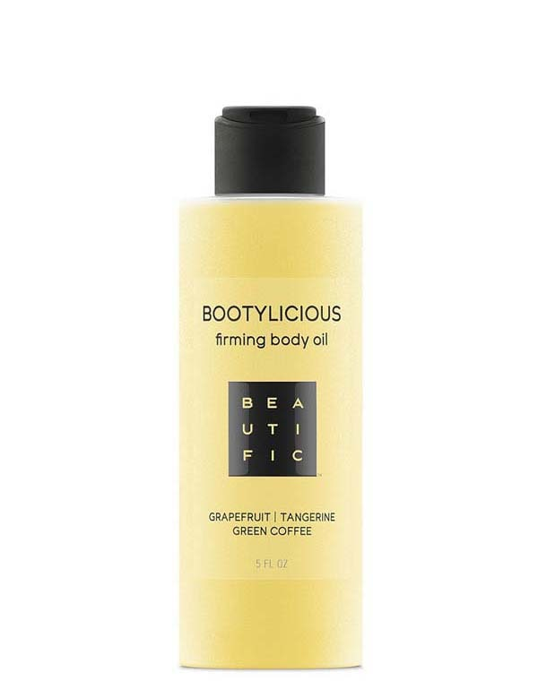 Купить Масло Beautific, Масло антицеллюлитное для упругости тела с эссенцией грейпфрута, зеленым кофе Bootylicious Beautific, РОССИЯ