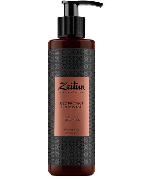Гель для душа защитный с антибактериальным эффектом для мужчин с маслом чайного дерева Zeitun