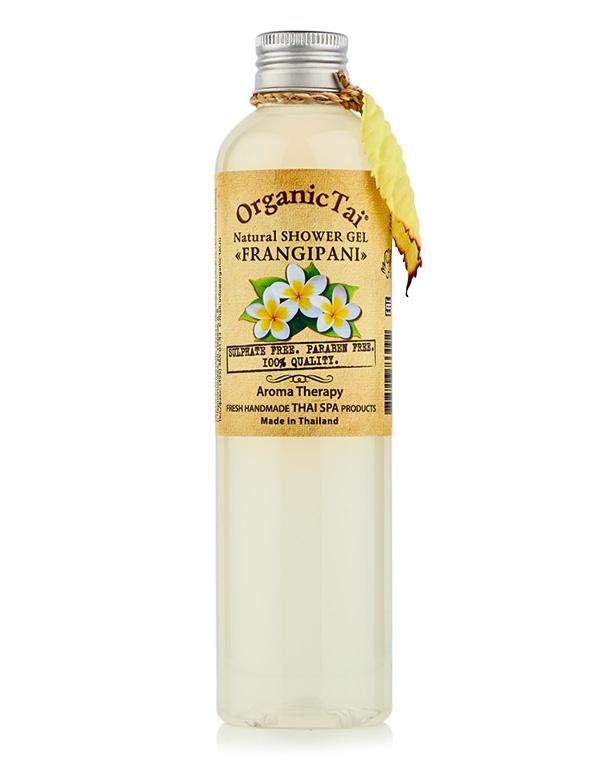 Гель для душа натуральный «Франжипани» Organic Tai, 260 мл