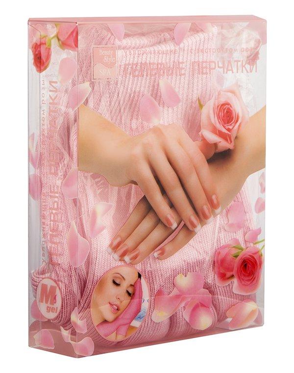 Перчатки и носочки Beauty Style Перчатки увлажняющие GelSmart с экстрактом розы