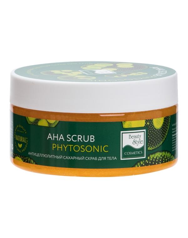 Пилинг, скраб Beauty Style Антицеллюлитный сахарный скраб для тела AHA Scrub Phytosoniс Beauty Style, 200 мл крем скраб для тела maxi beauty крем скраб для тела
