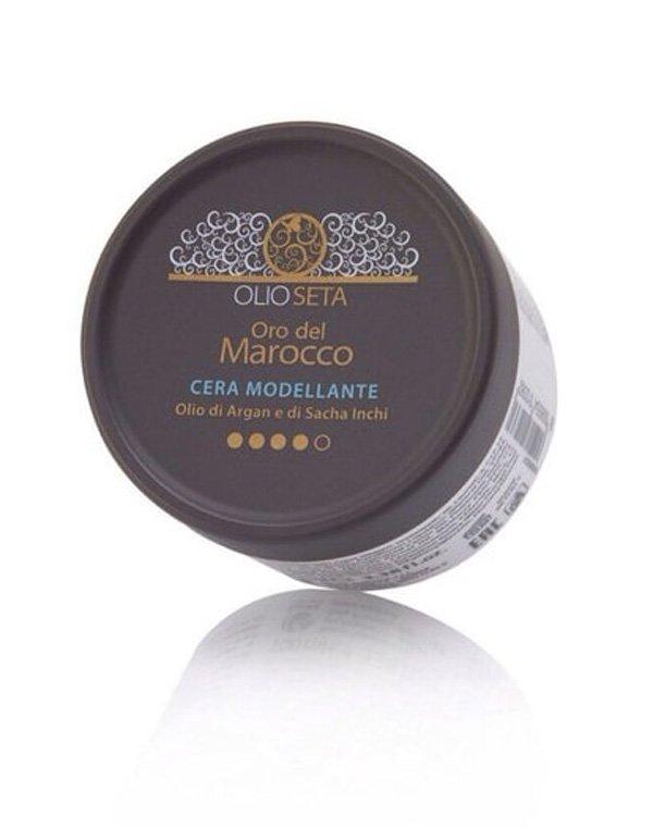 Моделирующий воск «Золото Марокко» - масло арганы и сача инчи Объем: 100 мл, BarexВоск для волос<br>Моделирующий воск обеспечит надежную фиксацию жестких и непослушных волос. Подходит для закрепления отдельных прядей в рельефной прическе.<br><br>Бренды: Barex<br>Вид товара: Гель, воск<br>Область ухода: Волосы<br>Назначение: Стайлинг<br>Тип кожи, волос: Осветленные, мелированные, Окрашенные, Вьющиеся, Сухие, поврежденные, Жирные, Нормальные, Тонкие<br>Косметическая линия: Olioseta oro del Marocco Линия Олиосета Золото Марокко