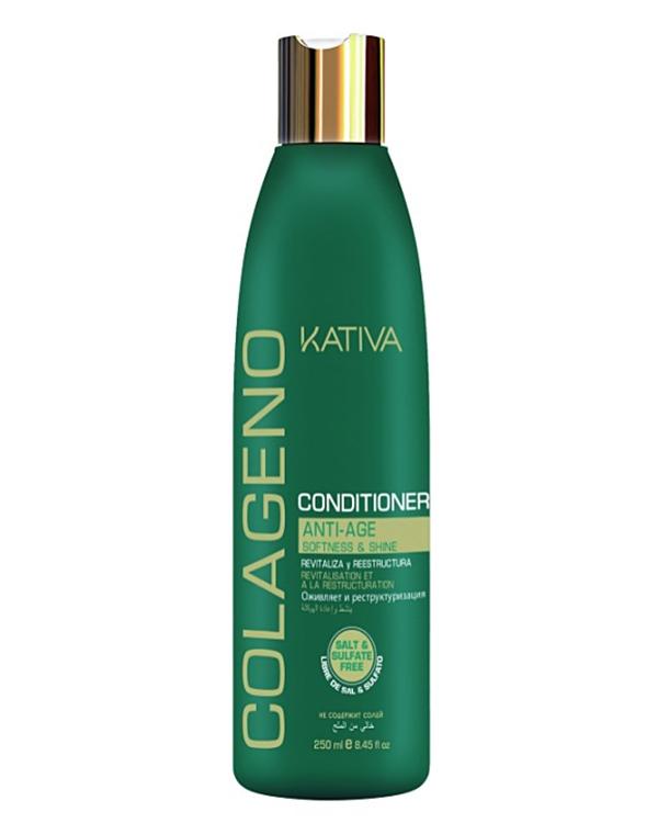Кондиционер, бальзам Kativa Коллагеновый кондиционер KATIVA  для всех типов волос COLAGENO, 250 мл кондиционер бальзам kativa ревитализирующий кондиционер quinua pro kativa 500 мл