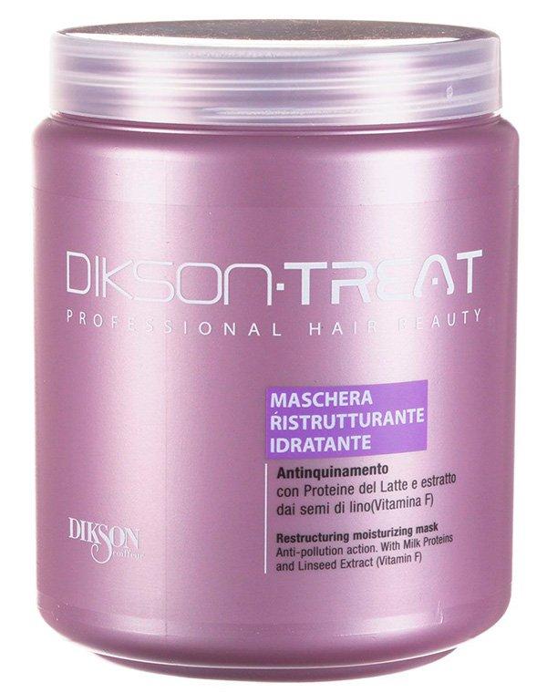 Восстанавливающая увлажняющая маска для волос с витамином F Restructuring Moisturizing MaskМаски для сухих волос<br>Препарат защитит локоны от вредного смога. Он наполнит волосы ценнейшими компонентами, содержащимися в протеинах молока. Средство мгновенно заряжает локоны энергией и силой. Волосы становятся мягкими, прочными и крепкими.<br><br>Бренды: Dikson<br>Вид товара: Маска для волос<br>Область ухода: Волосы<br>Назначение: Увлажнение и питание, Восстановление волос<br>Тип кожи, волос: Осветленные, мелированные, Окрашенные, Вьющиеся, Сухие, поврежденные, Нормальные, Тонкие<br>Косметическая линия: Линия маски, бальзамы и кондиционеры для волос