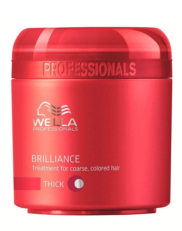 Крем-маска для окрашенных жестких волос WellaМаски для окрашеных волос<br>Маска для глубокого питания окрашенных и жестких волос. Увлажняет и смягчает волосы.<br><br>Бренды: Wella Professional<br>Вид товара: Крем, Маска для волос<br>Область ухода: Волосы<br>Назначение: Увлажнение и питание, Защита цвета<br>Тип кожи, волос: Окрашенные, Осветленные, мелированные<br>Косметическая линия: Линия Wella Brilliance Line для окрашенных волос