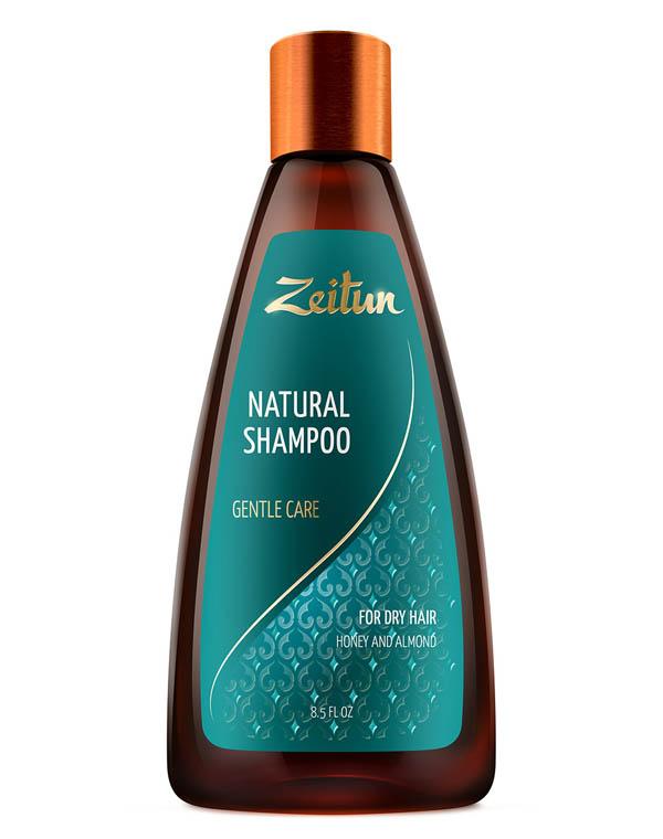 Шампунь Нежное очищение для сухих волос с медом и маслом миндаля Zeitun