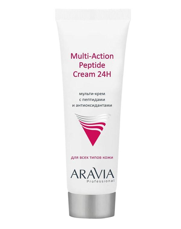 Купить Крем, бальзам Aravia, Мульти-крем с пептидами и антиоксидантным комплексом для лица Multi-Action Peptide Cream, ARAVIA Professional, 50 мл