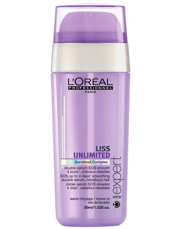 Сыворотка, флюид Loreal ProfessionalСыворотки для восстановления волос<br>Сыворотка разглаживает непослушные волосы, снимает пушистость и придает роскошный бриллиантовый блеск локонам.<br><br>Бренды: Loreal Professional<br>Вид товара: Сыворотка, флюид<br>Область ухода: Волосы<br>Назначение: Выпрямление<br>Тип кожи, волос: Осветленные, мелированные, Окрашенные, Вьющиеся, Сухие, поврежденные<br>Косметическая линия: Линия Liss Unlimited для разглаживания непослушных волос