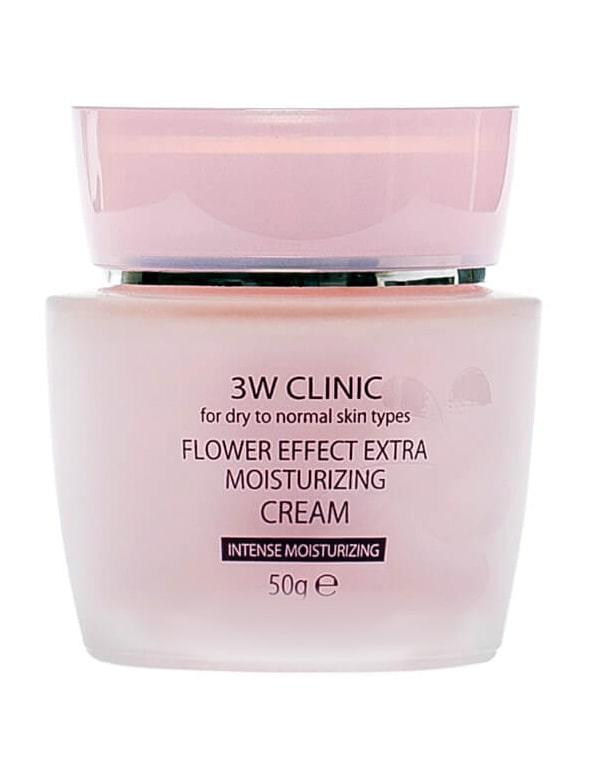 Увлажнение Крем для лица Flower Effect Extra Moisture Cream, 3W Clinic, 50 г цены онлайн