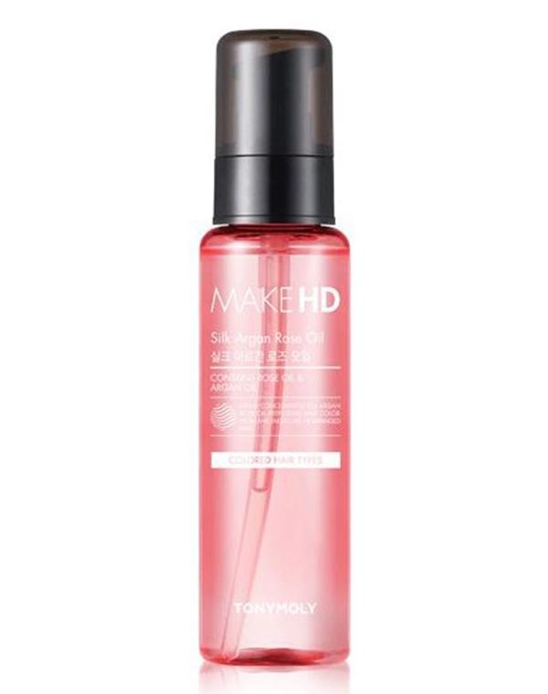 Масло Tony Moly Аргановое масло для волос Make HD Silk Argan Rose Oil Tony Moly, 85 мл ogx argan oil аргановое масло для восстановления волос argan oil аргановое масло для восстановления волос