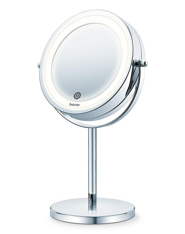 лучшая цена Зеркало двустороннее косметическое с подсветкой BS 55, Beurer