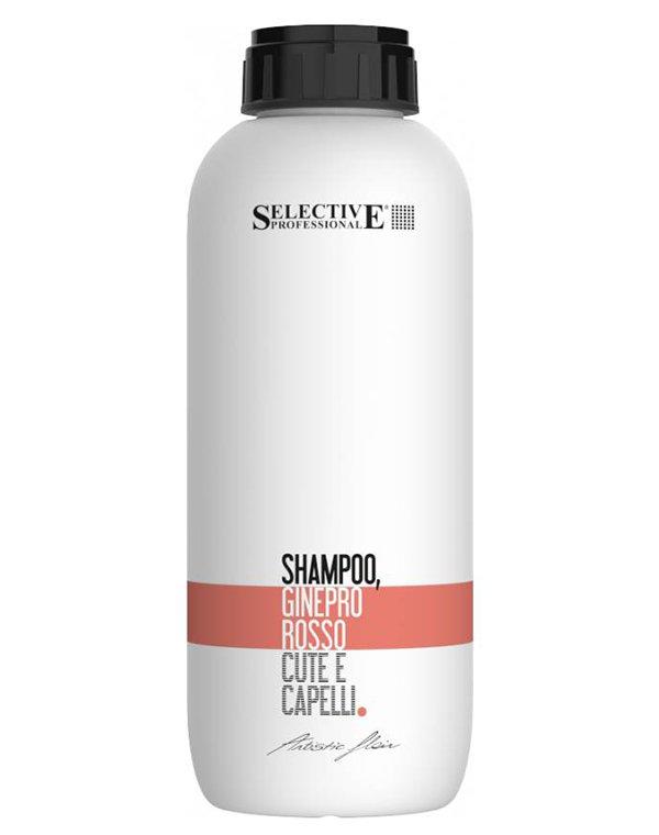 Шампунь Selective Шампунь можжевельник, многофункциональный Ginepro Rosso, Selective шампунь
