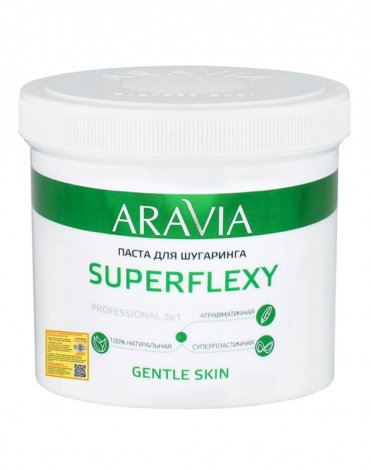 Паста для шугаринга SuperFlexy Gentle Skin, ARAVIA Professional, 750 г  1