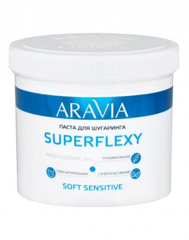 Паста для шугаринга SuperFlexy Soft Sensitive, ARAVIA Professional, 750 г  1
