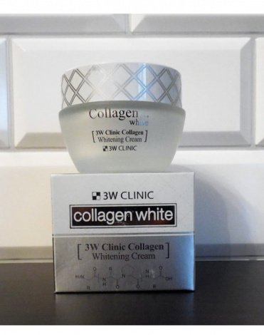 Осветляющий Крем для лица с Коллагеном Collagen Whitening Cream, 3W Clinic, 60 мл 3