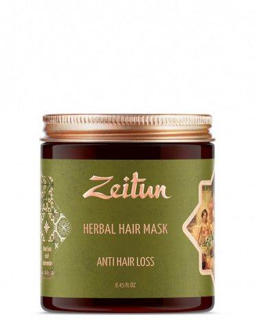 Фито-маска против выпадения волос с грязью Мертвого моря и амлой Zeitun 1