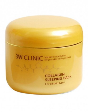 Маска д/лица ночная Коллаген Collagen Sleeping Pack, 3W Clinic, 100 мл 1