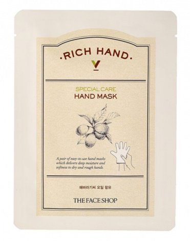 Маскa для рук Rich Hand V Special Care Hand Mask, The Face Shop, 1.6 гр 1