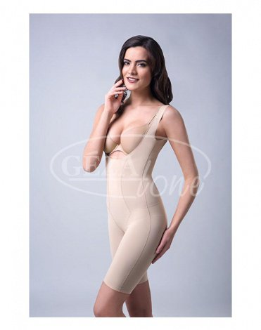 Корректирующее утягивающее белье Slim n Shape Bodysuit (комбидрес) телесный 1d4bb54c706a6