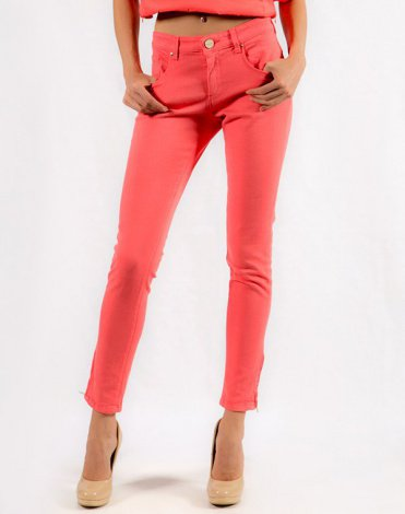 Pinko Tag Джинсы розовые Therese skinny 2